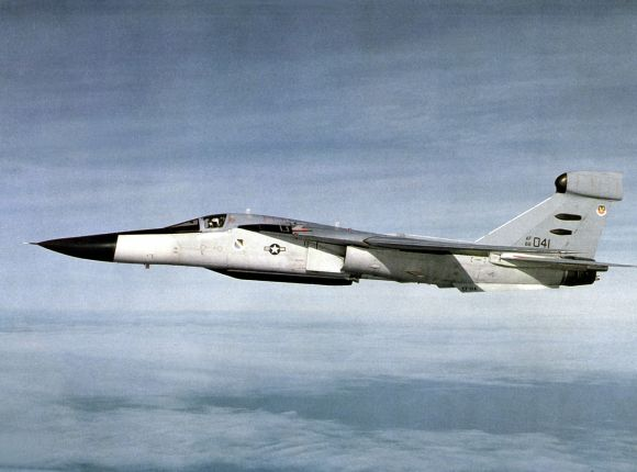 An EF-111A Raven, similar to the one flown by Denton and Brandon during the Persian Gulf War (U.S. Air Force/released)