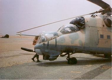 The abandoned Hind. Photograph by Steve Ouellette.