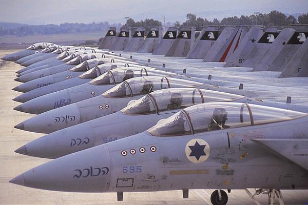 IAF F-15 Eagles on the flightline. Photograph courtesy of IAF.