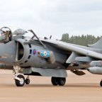 The Harrier II has its maiden flight