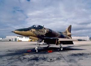 An aggressor A-4 Skyhawk. US Navy photograph.