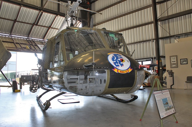 Front view of UH-1B 62-2084.