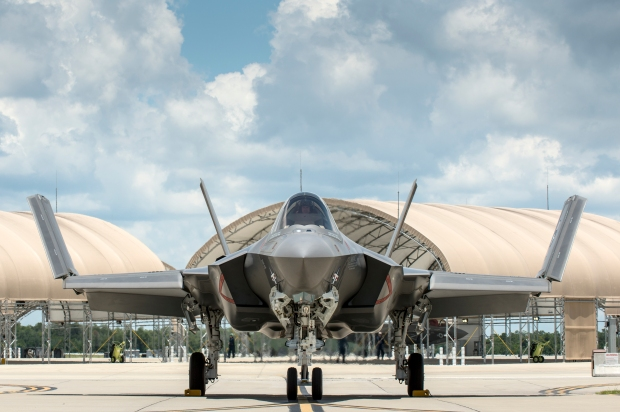 F-35C CF-6 unfolding its wings. Copyright: Lockheed Martin.