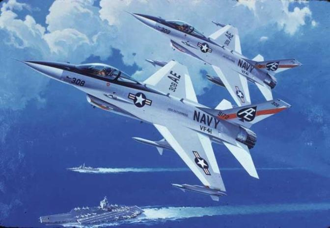 Model 1600 concept art, courtesy of Vought Aircraft Industries.