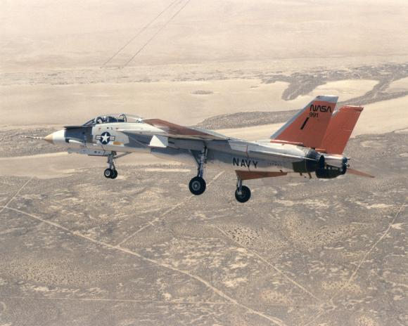 ECN-12451 NASA's F-14 (tail number 991, Navy serial number 157991) in 1980, soon after its arrival at the Dryden Flight Research Center. (September 5, 1980 NASA Photo)