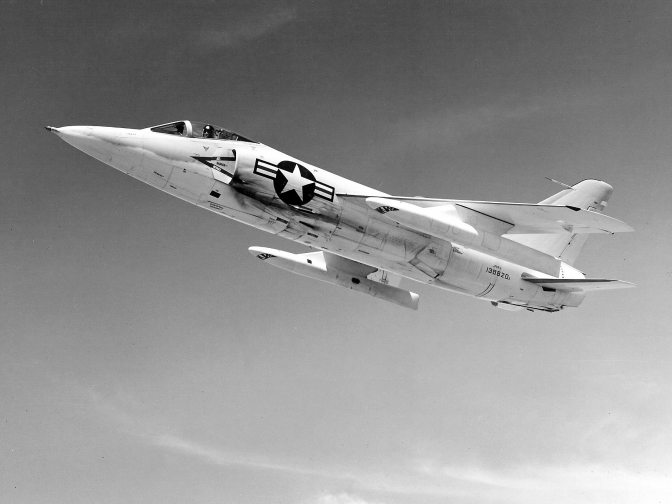 The F11F-1 Tiger involved in the incident. This particular Tiger was the 15th production aircraft delivered to the Navy. (US Navy Photograph from the US Navy National Museum of Naval Aviation Archives)