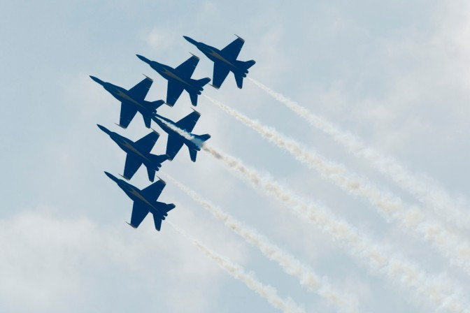The US Navy's Blue Angels at the 2009 CIAS. Photograph by Matt Sergeant.
