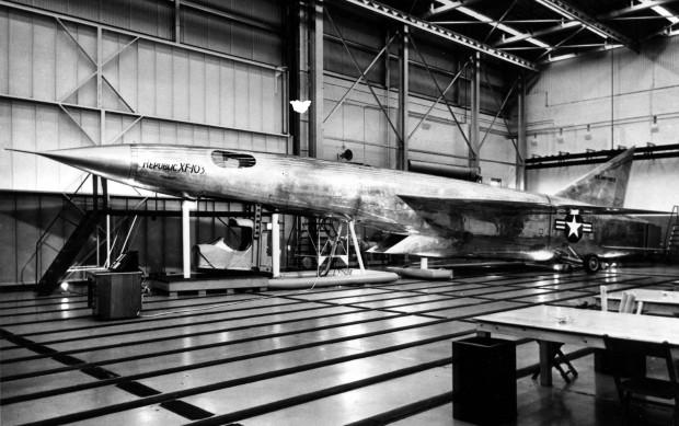 Republic XF-103 mock-up. (U.S. Air Force photo)