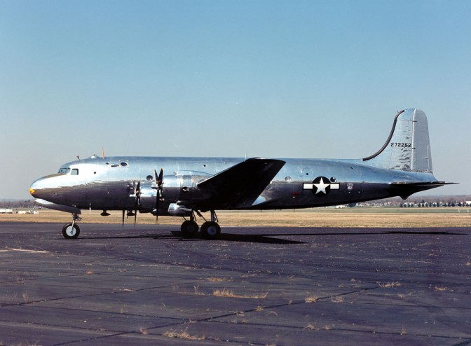 """DAYTON, Ohio -- Douglas VC-54C """"Sacred Cow"""" at the National Museum of the United States Air Force. (U.S. Air Force photo)"""