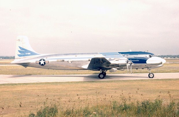 """DAYTON, Ohio -- Douglas VC-118 """"Independence"""" at the National Museum of the United States Air Force. (U.S. Air Force photo)"""