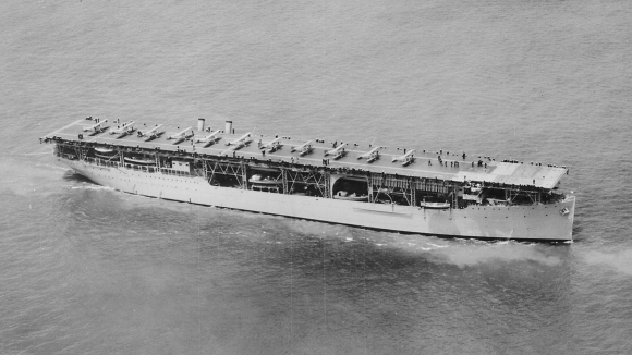 USS Langley underway. (Department of the Navy. Naval Photographic Center)