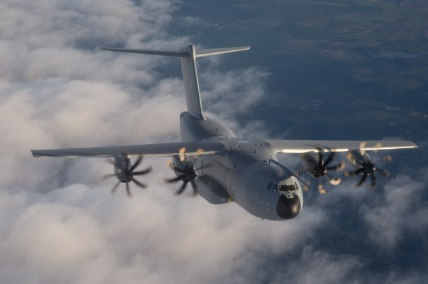 Malaysia A400M first flight 30 Jan 2015 (Airbus)