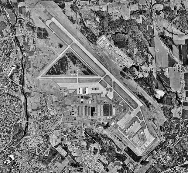 The former Griffiss AFB (circa 1997) in central New York state. Griffiss hosted Flight International's Learjets for some time; they are now primarily based out of Newport News, VA. (Photograph: USGS)