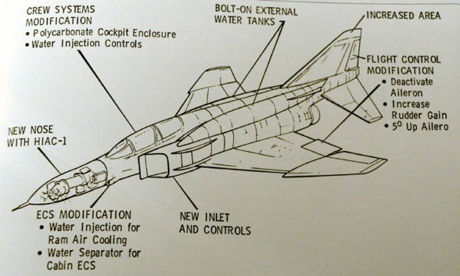 The RF-4X's main modifications from its F-4E standard. (public domain)