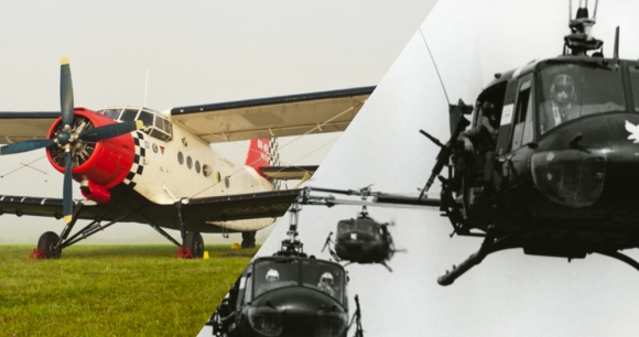 An-2 (left) picture by Julian Herzog. UH-1 picture (US Army/released)