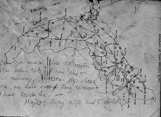 Major Lee's note. (US Navy/archives)
