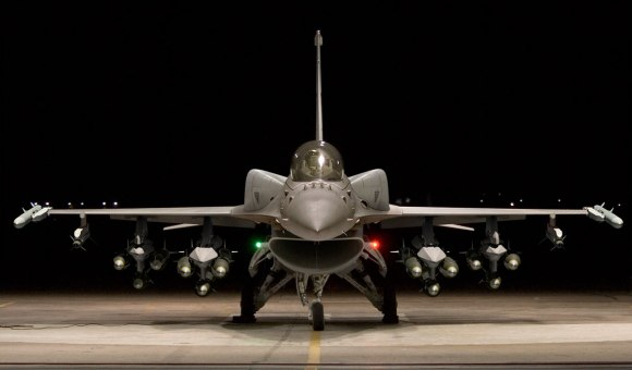 An F-16IN with a full Mark 82 load. (Photograph copyright: SP's Aviation)