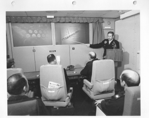 The E-4A's original projection/conference room. (National Archives)