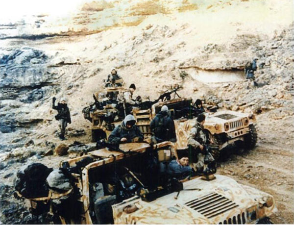 Delta Force operators behind Iraqi lines hunting for Scuds in 1991.