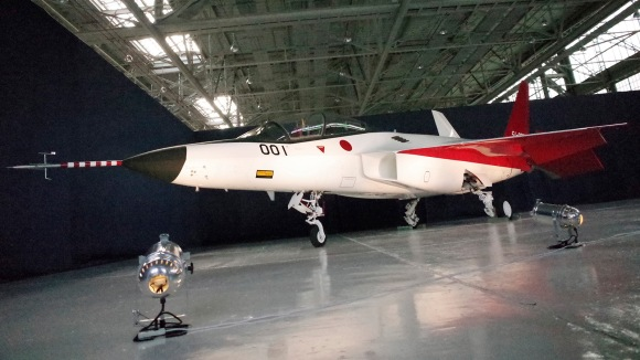 """""""The first domestically-made stealth aircraft, X-2, sits in a hangar at Nagoya Airport in Toyoyama town, central Japan, Thursday, Jan. 28, 2016."""" (AP Photo/Emily Wang)"""