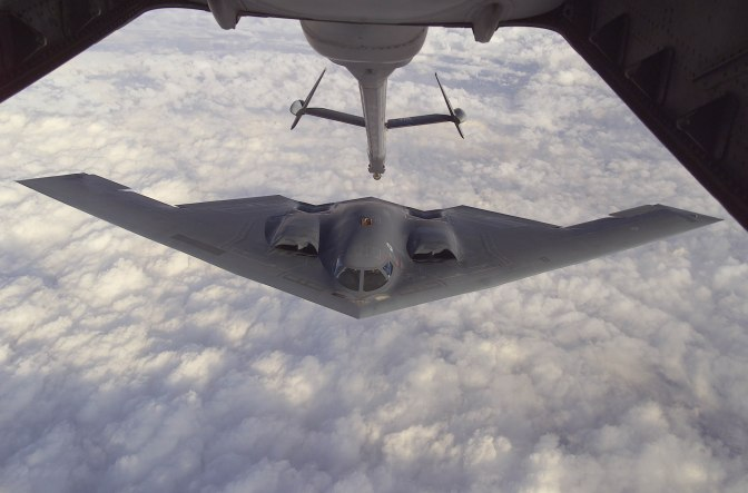 B-2 Spirit prepares for refueling