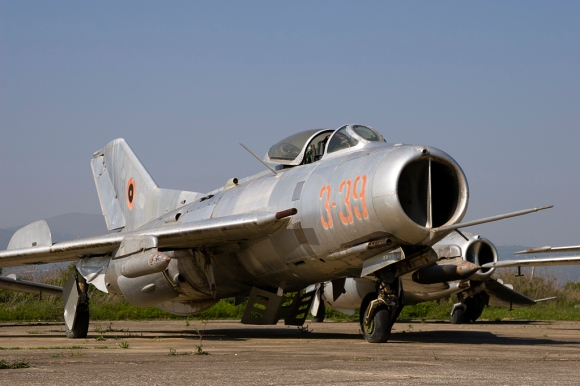 A former AAF Shenyang J/F-6, rusting away at Kucove Air Base. Photograph by Rob Schleiffert, 2007.