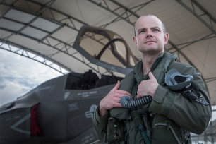 Wing Cdr Jon Butcher, Officer Commanding of 617 Squadron 'The Dambusters' (MoD/USMC/released)